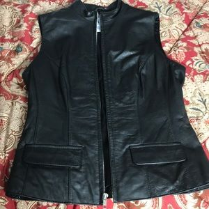 Armani Exchange fitted leather vest size S